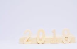 Het naderen van 2018 Stock Foto's