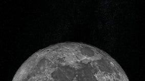 Het naderen van de Maan stock footage