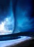 Het naderen van tornado Stock Fotografie