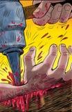 Het nagelen van Christus aan het kruis Royalty-vrije Stock Afbeeldingen