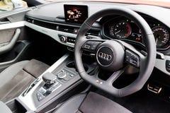 Het Nagelnieuwe 2017 Binnenland van Audi S5 Sportback Royalty-vrije Stock Fotografie