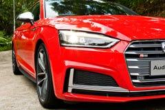 Het Nagelnieuwe 2017 Hoofdlicht van Audi S5 Sportback Royalty-vrije Stock Afbeelding