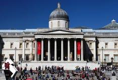 Het National Gallery in het Vierkant van Trafalgar van Londen Royalty-vrije Stock Foto's