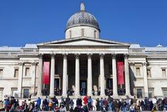 Het National Gallery in Londen stock foto's