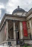 Het National Gallery op Trafalgar Square, Londen, Engeland, het Verenigd Koninkrijk stock foto