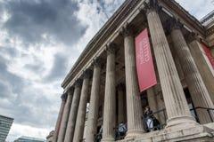 Het National Gallery op Trafalgar Square, Londen, Engeland, het Verenigd Koninkrijk royalty-vrije stock foto