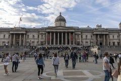 Het National Gallery in Trafalgar Square Stock Fotografie