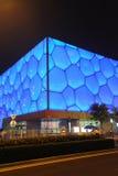 Het Nationale Centrum Aquatics van Peking - de Kubus van het Water Stock Fotografie