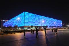 Het Nationale Centrum Aquatics van Peking - de Kubus van het Water Stock Foto