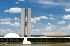 Het nationale congres van Brazilië Stock Afbeeldingen