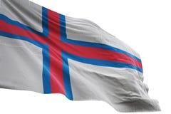 Het nationale de vlag van de Faeröer golven geïsoleerd op witte 3d illustratie als achtergrond vector illustratie