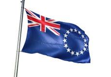 Het nationale de vlag van kokIslands golven geïsoleerd op witte realistische 3d illustratie als achtergrond vector illustratie