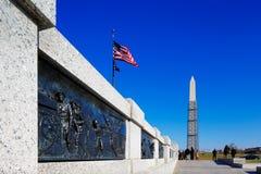 Het Nationale de Wereldoorlog IIgedenkteken van de V.S. in Washington DC, de V.S. stock afbeelding