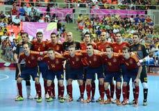 Het nationale futsal team van Spanje royalty-vrije stock foto's