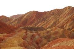 Het Nationale Geologische Park van Zhangyedanxia, Gansu, China Stock Foto