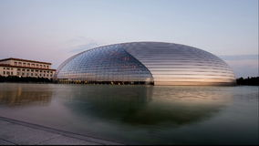 Het Nationale Grote Theater in Peking, China stock videobeelden