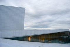 Het nationale Huis van de Opera van Oslo Stock Afbeelding