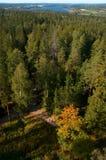 Het nationale landschap van Aulanko Royalty-vrije Stock Afbeeldingen