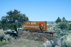 Het nationale monument van lavabedden Royalty-vrije Stock Afbeelding