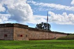 Het Nationale Monument van Pulaski van het fort Royalty-vrije Stock Foto's