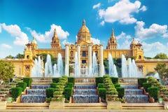 Het nationale Museum van de Kunst van Catalonië stock foto's