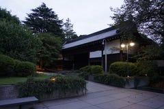 Het Nationale Museum van Tokyo, Ueno-park bij schemer Museumtuin royalty-vrije stock afbeeldingen