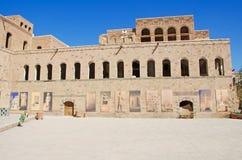 Het Nationale Museum van Yemen, galerij, de Oude Stad van Sana'a stock afbeeldingen
