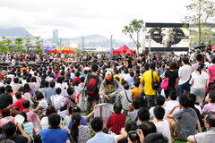 Het ?nationale Onderwijs? beweegt Protesten in Hongkong Royalty-vrije Stock Foto