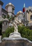 Het Nationale Paleis van Pena in Sintra, Portugal stock afbeeldingen
