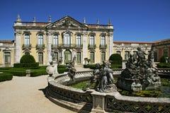 Het Nationale Paleis van Queluz stock afbeelding