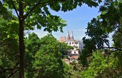 Het Nationale Paleis van Sintra stock afbeeldingen