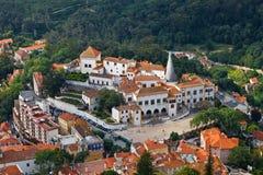 Het Nationale Paleis van Sintra dichtbij Lissabon Stock Afbeeldingen