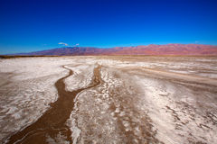 Het Nationale Park Californië Badwater van de doodsvallei Stock Afbeeldingen