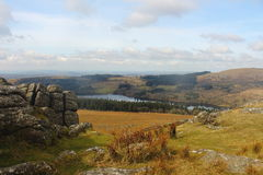 Het Nationale Park Devon het UK van Sheepstordartmoor Royalty-vrije Stock Foto's