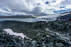 Het nationale park in geroepen Noorwegen jotunheimen stock afbeelding