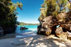 Het nationale park Nieuw Zeeland van Abel Tasman stock foto's