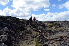 Het nationale Park Pali Aike in het Zuiden van Chili stock afbeeldingen