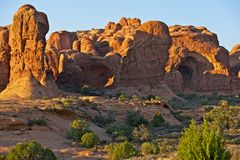 Het Nationale Park Utah van bogen Stock Afbeeldingen