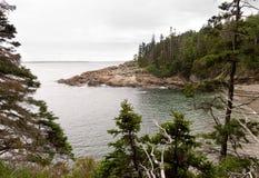 Het Nationale Park van Acadia toneel Stock Foto
