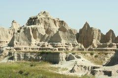 Het Nationale Park van Badlands, Zuid-Dakota Stock Afbeeldingen