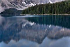 Het Nationale Park van Banff van het morenemeer Royalty-vrije Stock Afbeeldingen