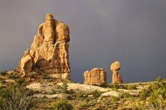 Het Nationale Park van bogen stock fotografie