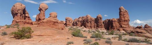Het nationale park van bogen stock afbeeldingen