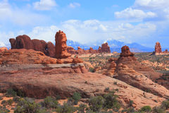 Het Nationale Park van bogen, Utah Stock Foto's