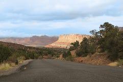 In het Nationale Park van de Capitoolertsader, Utah Stock Foto's