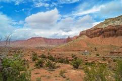 Het Nationale Park van de Capitoolertsader, Utah, de V.S. Stock Foto