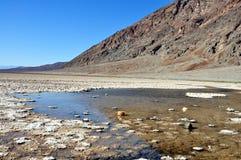 Het Nationale Park van de doodsvallei - Badwater-Bassin Royalty-vrije Stock Afbeeldingen