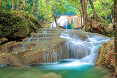 Het Nationale Park van de Erawanwaterval stock foto