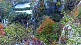 Het Nationale Park van de Meren van Plitvice Kroatië stock video
