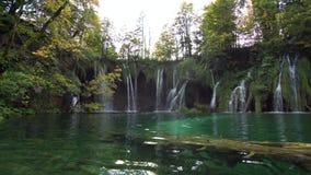Het Nationale Park van de Meren van Plitvice in Kroatië stock footage